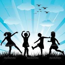 children silhouettes - Google Search