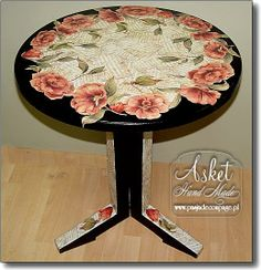 decoupage table decorated with CAL 119/F  Calambour Paper ! GRATULACJE