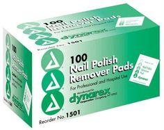Nail Polish Remover Pads Box-100