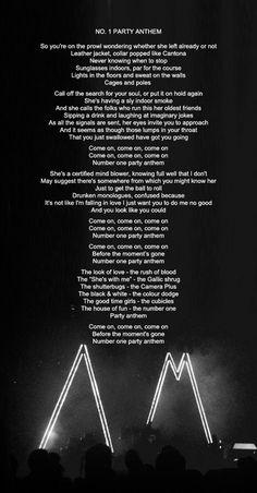 lyrics to no. 1 party anthem