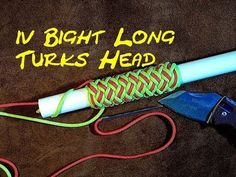 Paracordist how to tie a Turks Head knot easily using a jig and paracord for a hiking staff handle - YouTube