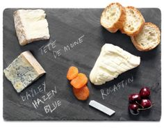 Perfect for entertaining, this crafted Cheese Board is sourced from a family quarry in upstate New York.  The board comes packed with chalk to create your own unique offerings.