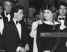 David Armstrong-Jones, Viscount Linley (left) with his girlfriend, fashion journalist Susannah Constantine, at a performance of the ballet 'Sleeping Beauty' at the Royal Opera House, Covent Garden, London, 30th April 1985.