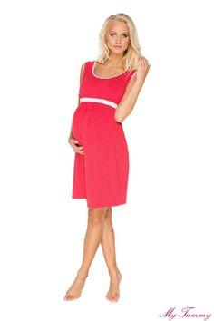 536efb2c64e7 Koszula nocna ciążowa Suzie czerwona Abbigliamento Premaman