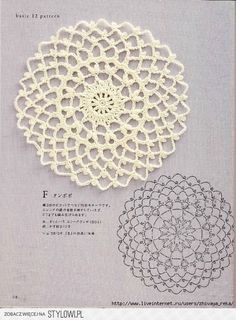 #_POLLY Crochet Doily with chart.