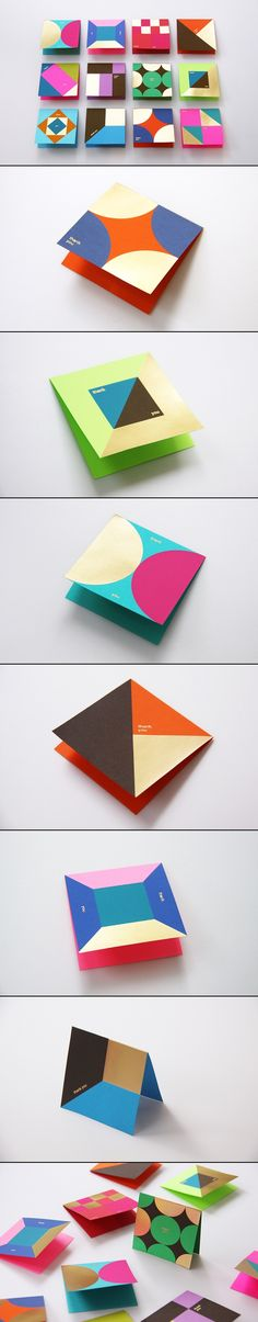 Design Inspiration // Graphic and print design for Astrobrights Thank You Card on Behance by Ken Lo, Hong Kong curated by Packaging Diva PD. Stunning card and stationery design. Web Design, Book Design, Layout Design, Design Art, Print Design, Cover Design, Design Ideas, Design Graphique, Art Graphique
