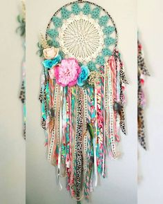 handmade-boho-dream-catcher-for-girls-room-or-nursery-pink-coral-turquoise-bohemian-bedroom-decor-boho-baby-shower-poetry-tea-babynurserydecor-boh/ SULTANGAZI SEARCH Boho Baby Shower, Bohemian Bedroom Decor, Boho Decor, Bohemian Crafts, Boho Diy, Gypsy Bedroom, Bohemian Gypsy, Art Decor, Rosa Coral