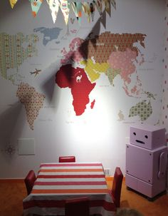 DIY map on the wall