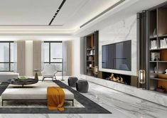 What Every Body Is Saying About Modern Living Room Design Ideas Is Dead Wrong And Why 25 - homevignette Living Room Tv, Living Room With Fireplace, Living Room Modern, Interior Design Living Room, Living Room Designs, Casa Kardashian, Modern Wall Units, Plafond Design, Luxury Interior