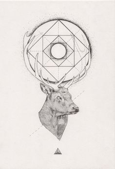 Tattoo Inspiration – (Geometric) Stag. A Peter Carrington illustration.: