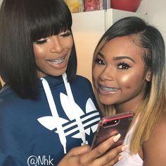 y sc // krissss. Black Girls Hairstyles, Cute Hairstyles, Cute Braces Colors, Braces Girls, Brace Face, Love Your Hair, Queen Hair, Hair Game, New Hair