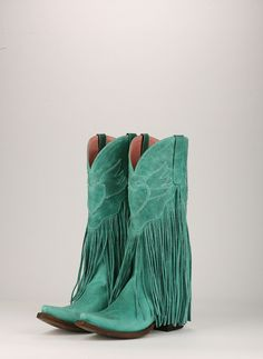 Junk Gypsy Dreamer boots in turquoise