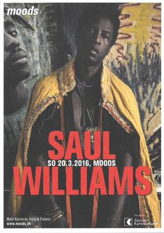 SAUL WILLIAMS - RAP - HIP-HOP - LIVE IM MOODS ZÜRICH - ORIG. FLYER