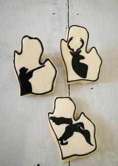 Hunting themed Michigan cookies