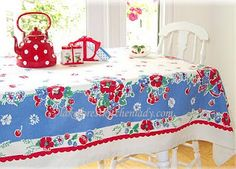 and to think my grandma had so many of these vintage tablecloths