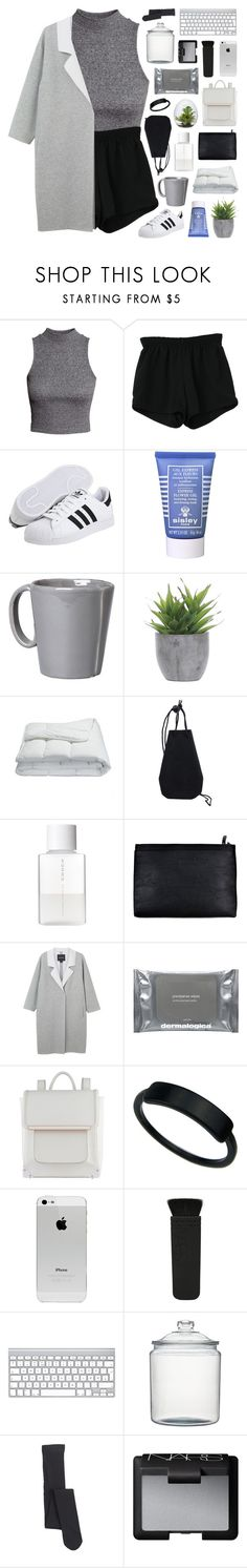 """""""we leave our worries behind"""" by moonlightxbby ❤ liked on Polyvore featuring H&M, Retrò, adidas, Sisley Paris, Vietri, Lux-Art Silks, Frette, SUQQU, Monki and Dermalogica"""