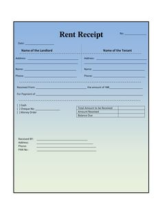 House Rental Invoice Template In Excel Format  Invoice For Rent