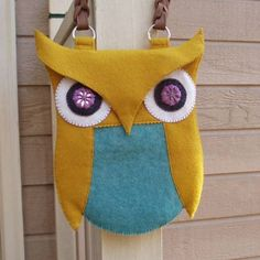 Wool Felt Owl Purse (Update with second purse) - PURSES, BAGS, WALLETS