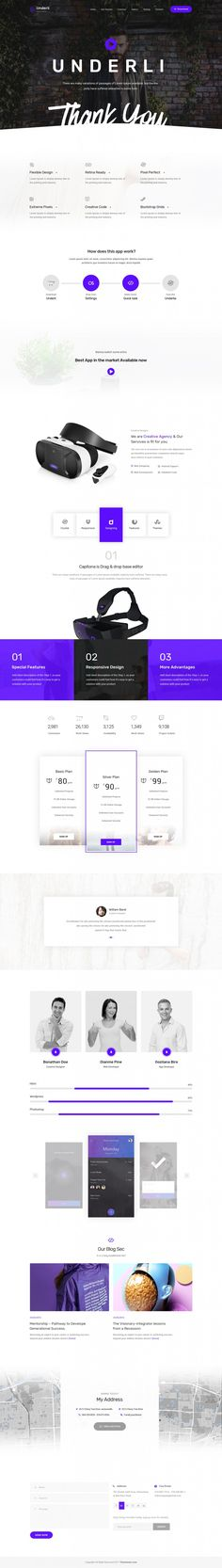 App Landing Page & Product Showcase