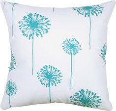 Drift, Turquoise Decorative Throw pillow