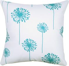Drift, Turquoise Decorative Throw pillow