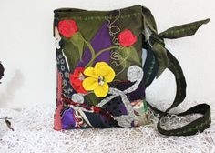 Jeans bag Dark blue denim bags Recycled bags by Nazcolleccolors