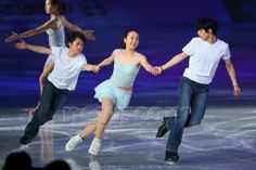(L-R) Tatsuki Machida, Mao Asada, Yuzuru Hanyu, APRIL 11, 2014 - Figure Skating : Stars on Ice Japan Tour 2014 at 1st Yoyogi Gymnasium, Tokyo, Japan. (Photo by Yohei Osada/AFLO SPORT) (512×341)