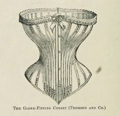 "Vintage Ephemera: Engraving; ""The Glove-Fitting Corset,"" 1868"