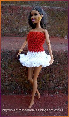 Ravelry: Barbie - Christmas party Ruffles Dress pattern by Myshelle Cole