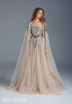 Paolo Sebastian Spring/Summer Collection - Brisbane Wedding Weekly - Medieval princess inspired with wedding cape.