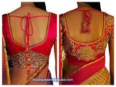 Image result for designer blouse designs for back neck for silk sarees