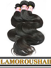 "3Pcs/Lot 8""-34"" Brazilian Virgin Remy Hair Natural Black Color Body ... – USD $ 79.20"