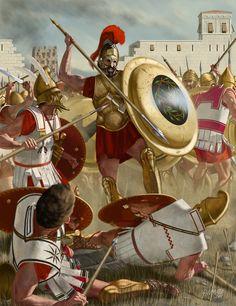 Greek hoplite.