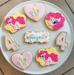 Excited to share this item from my shop: Pinkie Pie Cookies / One Dozen Date Cookies, Pink Cookies, Sugar Cookies, Birthday Party Desserts, Birthday Cookies, 4th Birthday, Birthday Ideas, Birthday Parties, Rapunzel Birthday Cake