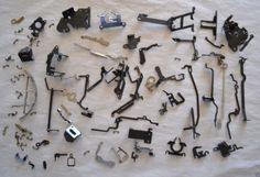#Typewriter Parts 1961 Smith Corona #craft #steampunk gear key lever old