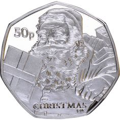 Isle of Man 2011 - Christmas Coin - Father Christmas - Proof Sterling Silver English Coins, Rare 50p, Fifty Pence Coins, Valuable Coins, 50p Coin, Coin Worth, Mint Coins, Stuff And Thangs, Isle Of Man