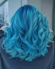 Ideas For Hair Color Crazy Blue Hairstyles Cute Hair Colors, Pretty Hair Color, Hair Dye Colors, Ombre Hair Color, Hair Color For Kids, Pelo Color Azul, Pulp Riot Hair Color, Best Ombre Hair, Dye My Hair