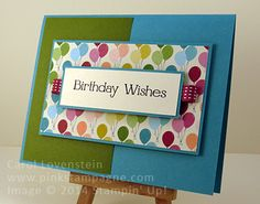 Four You Happy Birthday – Feb Card Class Masculine AND Clean & Simple Carol Lovenstein - Stampin' Up!
