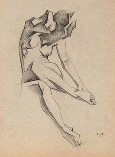 Ignaty Ignatievich Nivinsky (1881-1933): Female Figure, 1913.