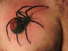 3D Spider Unique Tattoo Designs ~ http://tattooeve.com/unique-tattoo-designs/ Tattoo Design