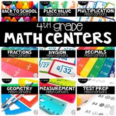 This 4th grade bundle includes hands-on and engaging math centers for the entire year!!! You will be getting a total of 90 math centers! Each set of centers has the same format, so students will learn the expectations and procedures and then be able to complete centers for