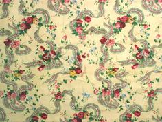 Titley and Marr - Textiles Designers Victorian Fabric, Victorian Wallpaper, Textile Design, Vintage World Maps, Textiles, Ribbons, Background Ideas, Floral, Yellow