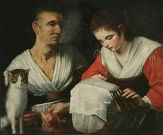 Gabrielli Onofrio da Messina-la merlettaia con la maestra,sec.XVII