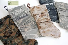 Reserved Military Army Christmas Stocking for Whiteside