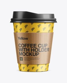 Paper Cup With Sleeve Mockup. Preview