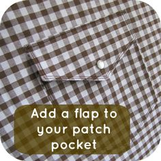 The Haby Goddess: Tutorial: Add a flap to patch pockets