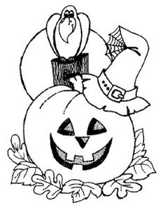 383 best Halloween coloring pages images on Pinterest | Coloring ...