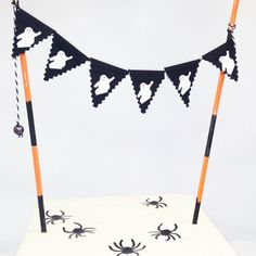 HALLOWEEN cake bunting TOPPER Halloween Bunting, Halloween Cakes, Halloween Decorations, Cake Bunting, Buntings, Cake Toppers, Cake Decorating, Autumn, Etsy