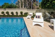 Our Sandstone Porcelain Pavers are the perfect fit for those who truly want to achieve a functional and elegant paving solution.  #poolcoping #porcelainpavers  #sandstone #poolpavers  #landscape #bullnosed #nomaintenance #kograhbay #sandstonelook #sydneypools