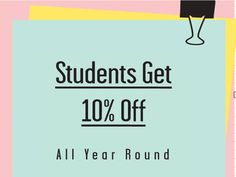 Price- Offers 10% off for students to compete with other high street competitors